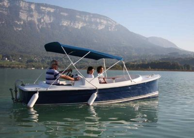 Electric boat, Curtelet, Aiguebelette, leisure